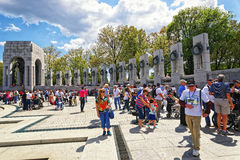 War veterans in National World War Two Memorial Pacific Arch Royalty Free Stock Image