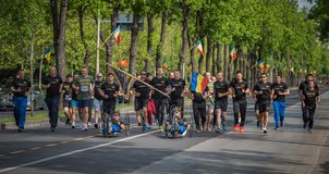 VeteRun ,The War Veterans Run, Bucharest, Romania. The War Veterans Run, Bucharest, Romania royalty free stock photos