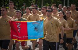 VeteRun ,The War Veterans Run, Bucharest, Romania. The War Veterans Run, Bucharest, Romania stock photography