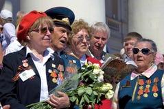 War veterans sing songs. Stock Photos