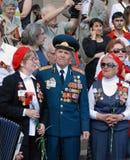 War veterans sing songs Royalty Free Stock Photos