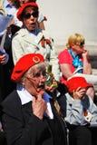 War veterans sing war songs. Stock Photos