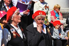 War veterans sing war songs. Stock Images