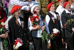 War veterans sing war songs Stock Photo