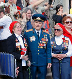 War veterans sing war songs Royalty Free Stock Photography
