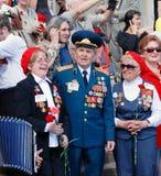 War veterans sing war songs Royalty Free Stock Photography