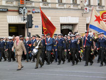 War veterans at a military parade Stock Images