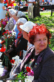 War veterans women portrait. Royalty Free Stock Photography