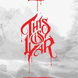 This is War. Typography with red blood illustration Stock Photo