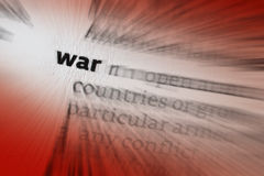 War - Warfare - Conflict stock photo