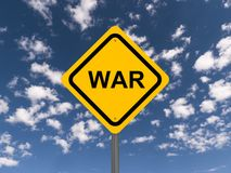 War warning sign  Stock Photos