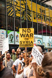 War! What Is It Good For?. New York City protest of Syrian invasion Stock Photography