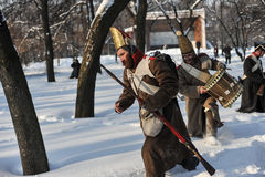 The War of 1812. Winter campaign. Royalty Free Stock Photo