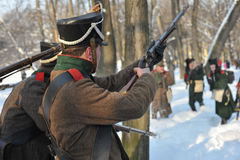 The War of 1812. Winter campaign. Royalty Free Stock Photos