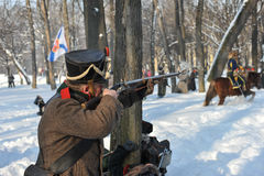 The War of 1812. Winter campaign. Stock Image