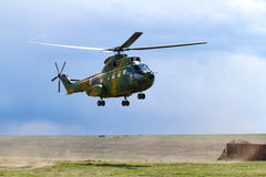 War zone helicopter Royalty Free Stock Images