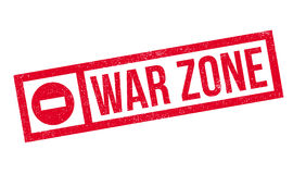 War Zone rubber stamp. Grunge design with dust scratches. Effects can be easily removed for a clean, crisp look. Color is easily changed Royalty Free Stock Photo