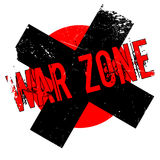 War Zone rubber stamp. Grunge design with dust scratches. Effects can be easily removed for a clean, crisp look. Color is easily changed Stock Image