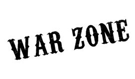 War Zone rubber stamp. Grunge design with dust scratches. Effects can be easily removed for a clean, crisp look. Color is easily changed Royalty Free Stock Photography