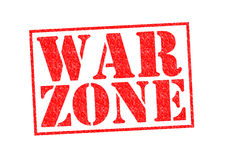 WAR ZONE. Rubber Stamp over a white background Royalty Free Stock Photos