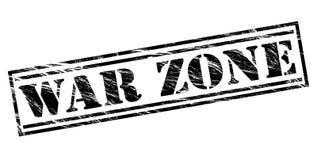 War zone stamp. War zone black stamp on White background Royalty Free Stock Image