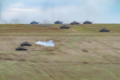 War zone with tanks Stock Photography