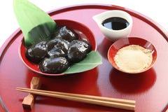 Warabimochi, japanese dessert Stock Image
