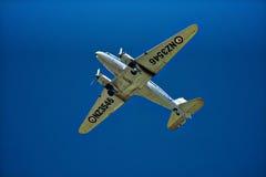Warbird in flight Stock Image