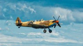 Warbird in flight - Spitfire Stock Photo