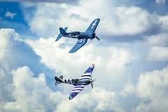 Warbird Flyover w formaci Zdjęcia Royalty Free