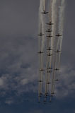 Warbirds στην παρέλαση Στοκ εικόνα με δικαίωμα ελεύθερης χρήσης