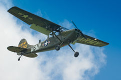 Warbirds - Bird Dog in flight Royalty Free Stock Images
