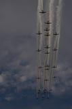 Warbirds in der Parade Lizenzfreies Stockbild