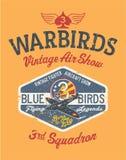 Warbirds-Flugzeugweinlese-Flugschau vektor abbildung