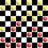 warcabów czerwieni kolor żółty Obraz Stock