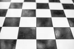 Warcaby deska w czarny i biały obraz stock