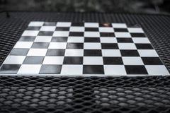 Warcaby deska w czarny i biały zdjęcie stock