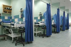 Ward. Equiped hospital room stock images