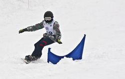 Ward Snow Day.Junior Championships in downhill Royalty Free Stock Photo