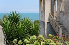 Warden House und Garten auf Alcatraz Lizenzfreies Stockbild