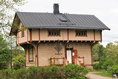 Warden`s House on Seurasaari Island,Helsinki, Finland. Charming 19th century forest warden`s house on Seurasaari Island, Helsinki, Finland Royalty Free Stock Photos