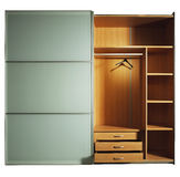 Wardrobe. The inside of an empty wooden wardrobe Royalty Free Stock Images