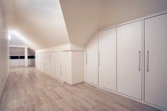 Wardrobe. Interior of a simple and large wardrobe royalty free stock image