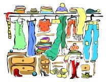 wardrobe Fotografie Stock Libere da Diritti