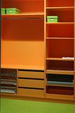 Wardrobe. Dressing furniture, perfect geometry of one colorful wardrobe Royalty Free Stock Photo