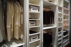 Wardrobe. Light Wardrobe on modern interior royalty free stock photography