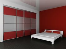 Wardrobe And Bed Stock Photography
