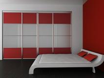 Wardrobe and bed Royalty Free Stock Image