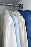 Wardrobe of business attire. Wardrobe of business long sleeved shirts. For business concepts, and office and work life Royalty Free Stock Images