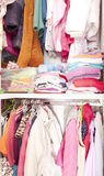 Wardrobe with child clothes Royalty Free Stock Photo